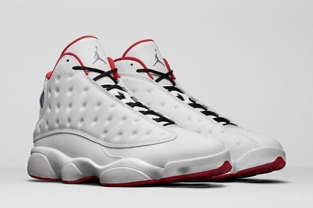 AIR JORDAN 13 WHITE/METALLIC SILVER-UNIVERSITY RED(414571-103)