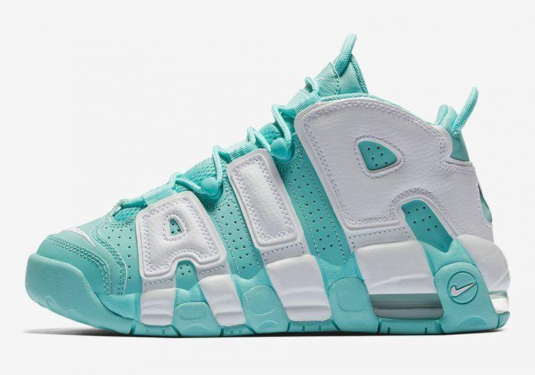 "NIKE AIR MORE UPTEMPO GS ""Island Green""(415082-300)"