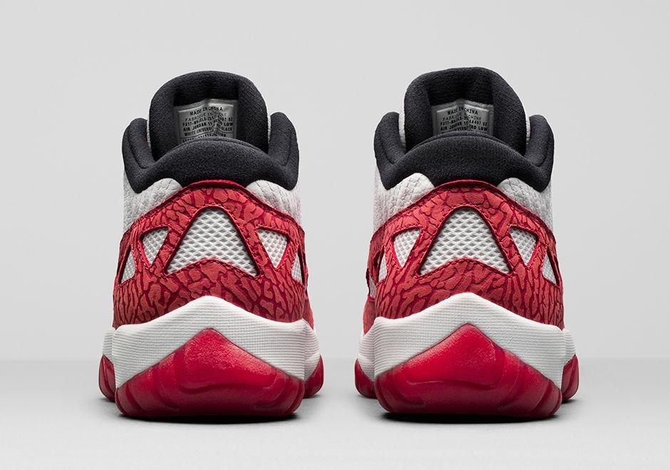 "AIR JORDAN 11 LOW IE ""FIRE RED""(919712-101)"